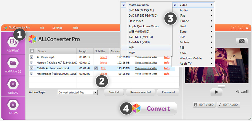ALLConverter PRO - convert video
