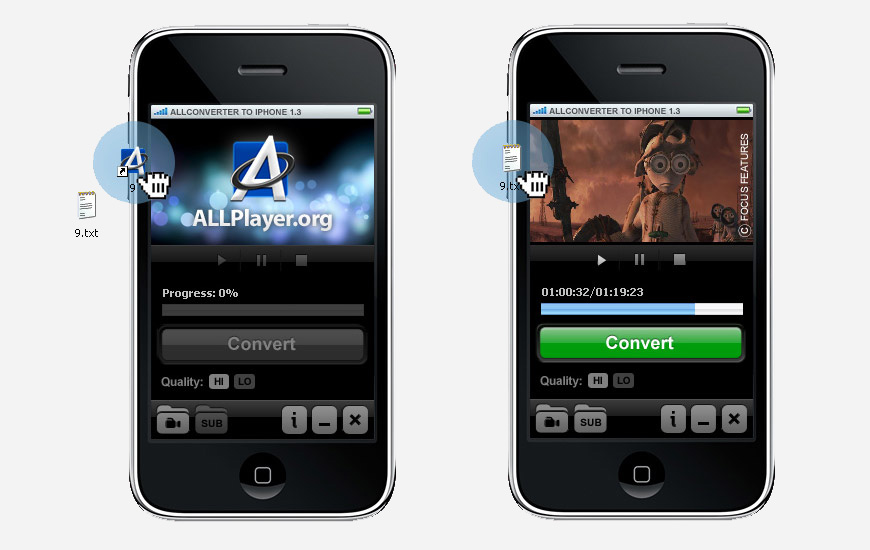 ALLConverter to iPhone